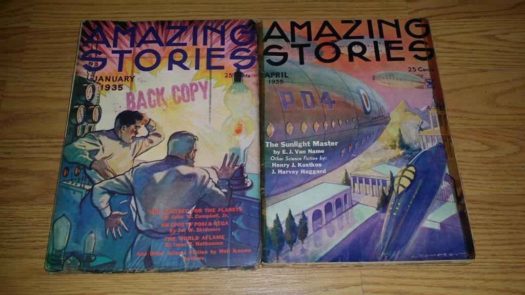 Amazing Stories January 1935 and April 1935  $100.00 Each