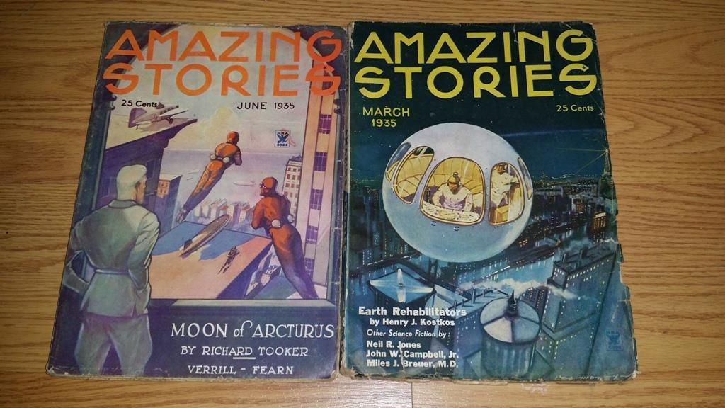 Amazing Stories June 1935  and March 1935  $100.00 each
