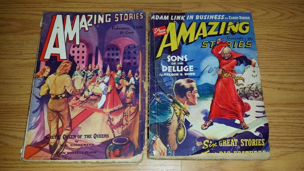 Amazing Stories February 1938 and January 1940  $100.00 Each