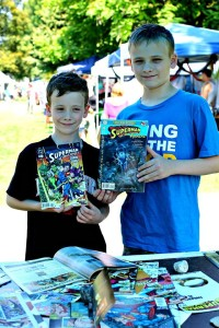 Lil Dudes with Action Comics Donated by writer DAVID MICHELINIE!