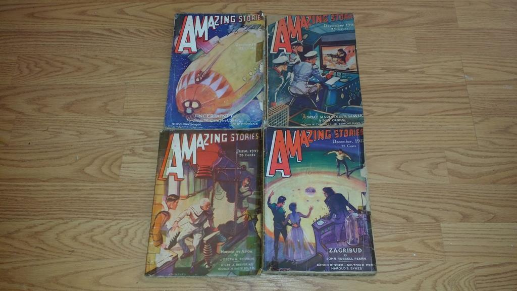 Amazing Stories October 1936 December 936 June 1937 December 1937 $100.00 Each