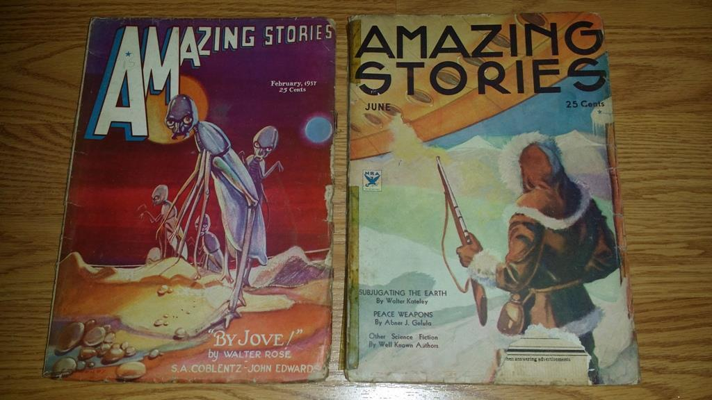 Amazing Stories February 1937 and June 1934 $100.00 Each