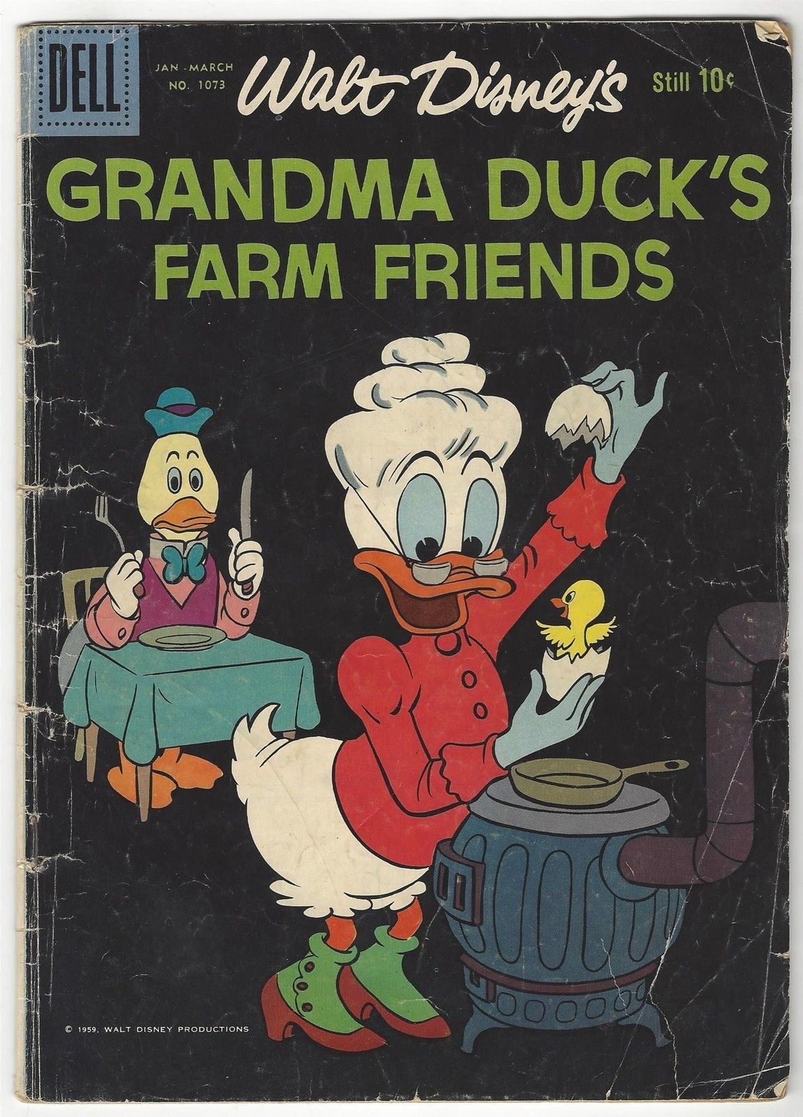 Dell Four Color # 107 Walt Disney's Grandma Duck's Farm Friends