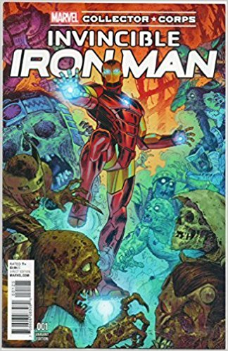 Invincible Iron Man # 1  second print Marvel Collector Corps Variant sealed $10 includes shipping! ** Rated Teen+ **