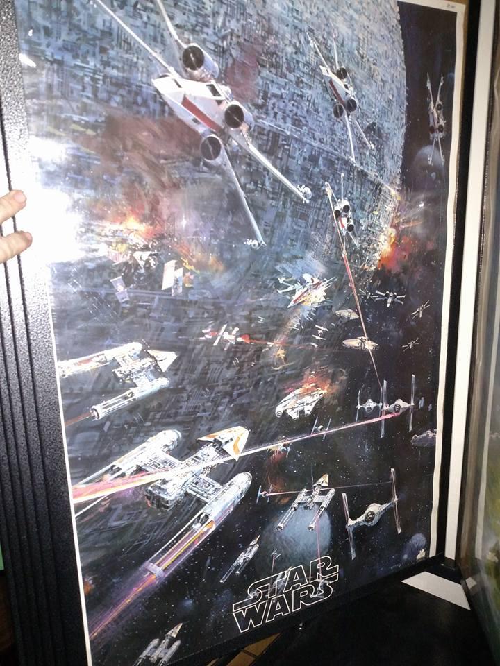 Star Wars soundtrack album insert 1977 never folded always rolled $100