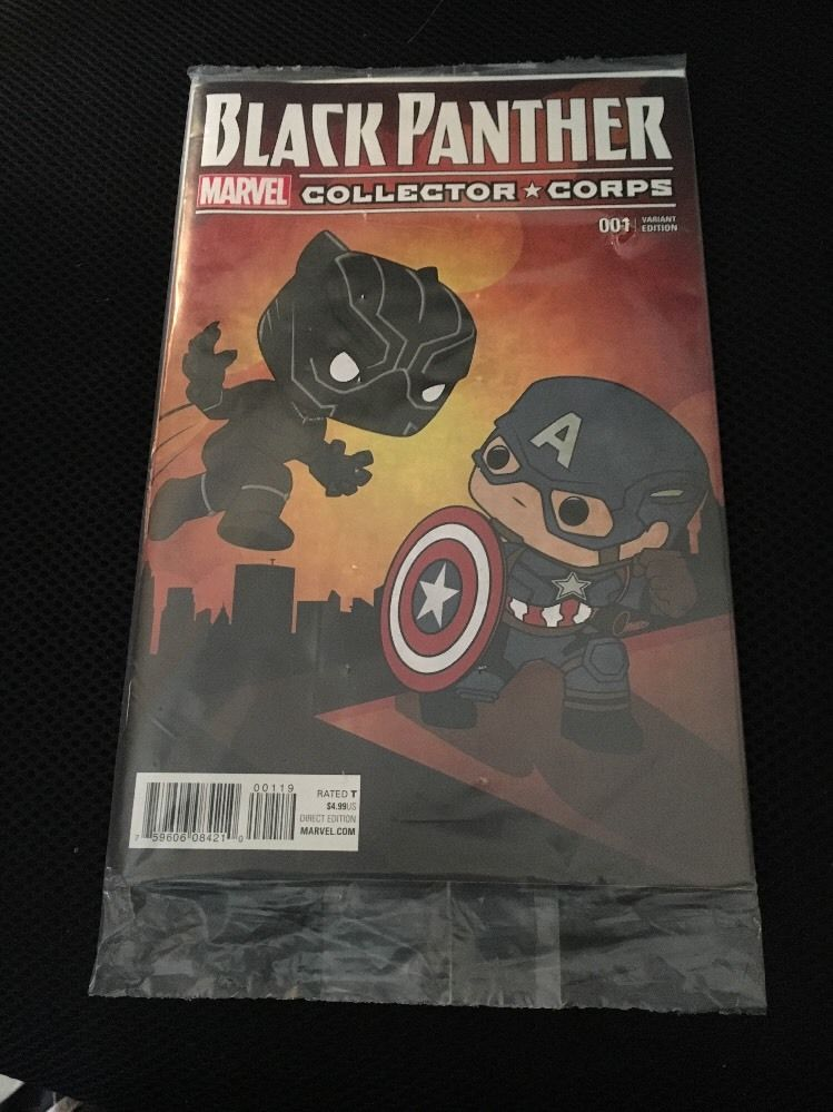 Black Panter # 001   Marvel Collector Corps Variant sealed $10 includes shipping! ** Rated Teen+ **