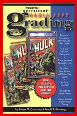 Contributing Author and Advisor to The Official Overstreet's  Comic Book Grading Guide 2nd Edition