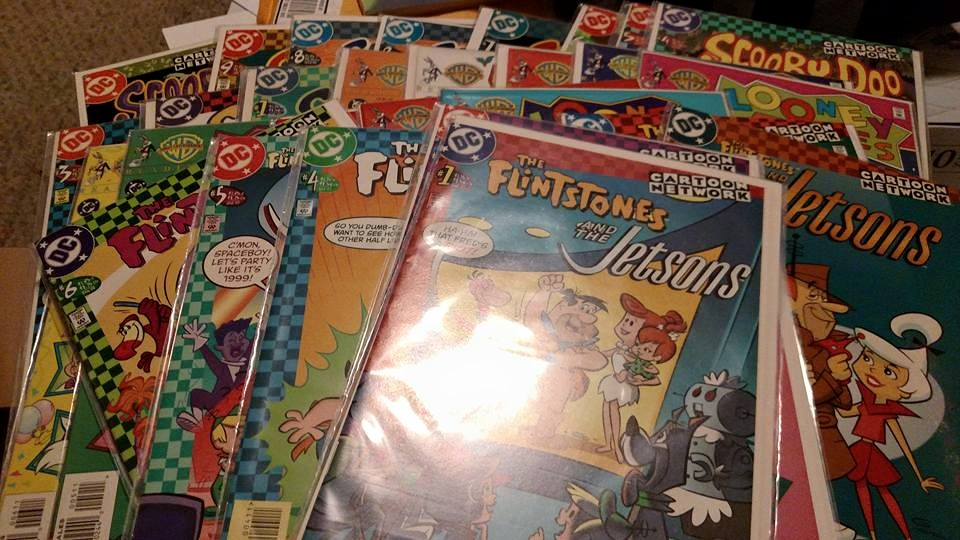 AWESOME donation of Jetsons, Flintstones, and Looney Tunes comics from GREGORY!! Thank You So Much!