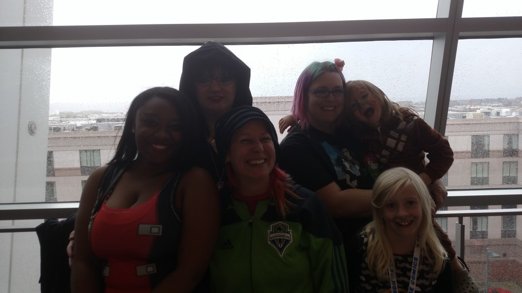 the Women who support Comics4Kids INC ! Lilly Anne Spidey Iris Sarah and Lily!