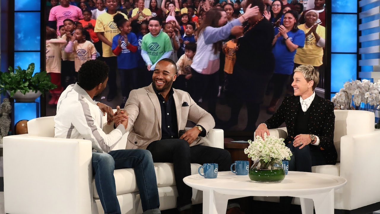 Click photo to view footage of Mr. Joseph meeting Chadwick Boseman on ELLEN!