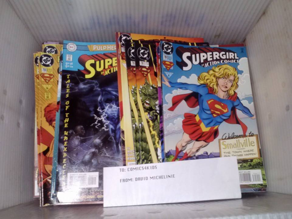 Action Comics donated by writer David Michelinie! (creator of Venom and Carnage) THANK YOU SO MUCH DAVID!!