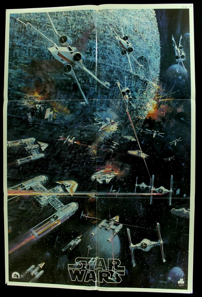 """Star Wars album insert never folded kept rolled 1977 22"""" x 30"""" $20"""
