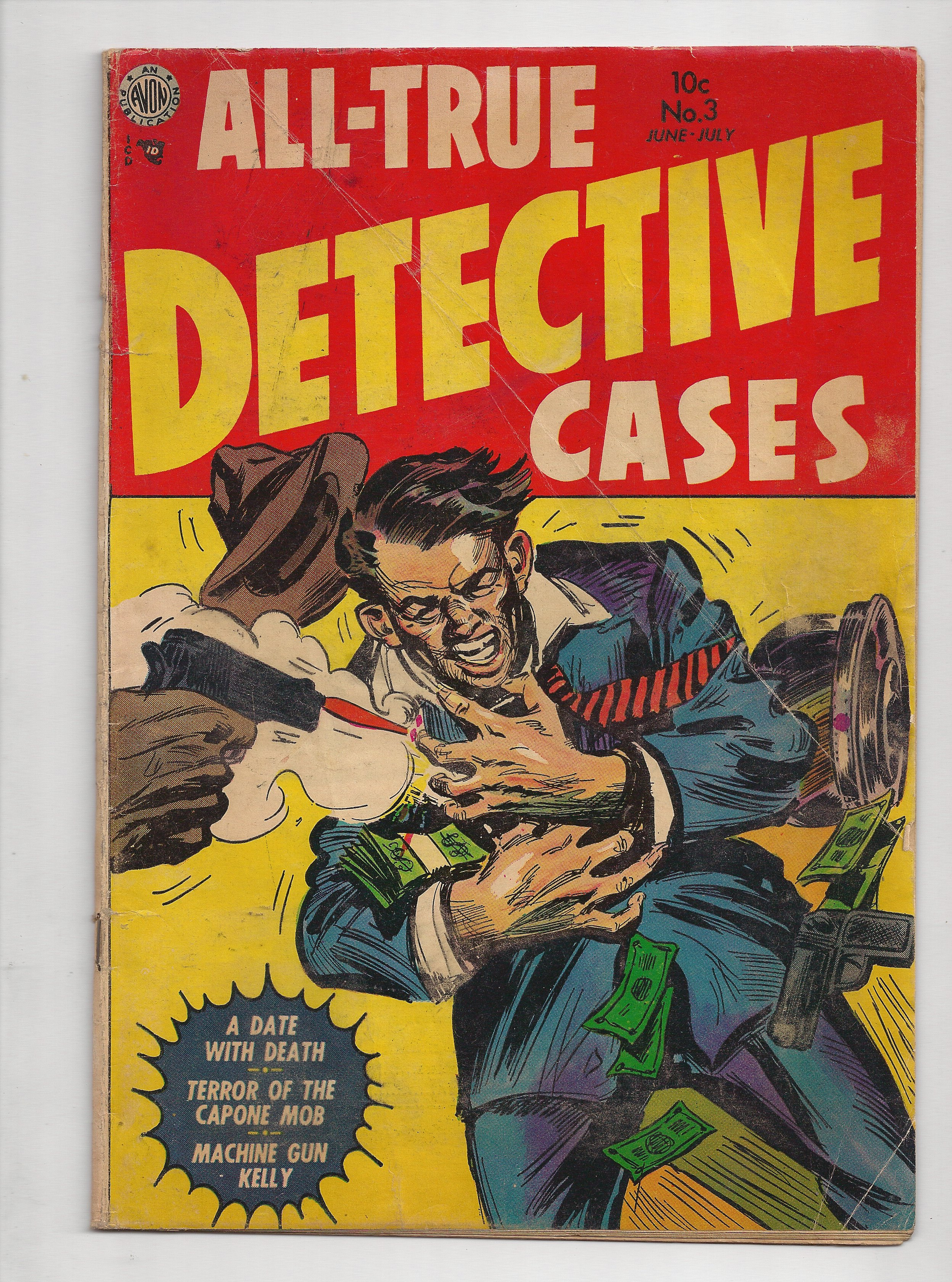 All True Detective Cases # 3 A golden age example of The Comics4Kids INC comic book reading library Special Collections