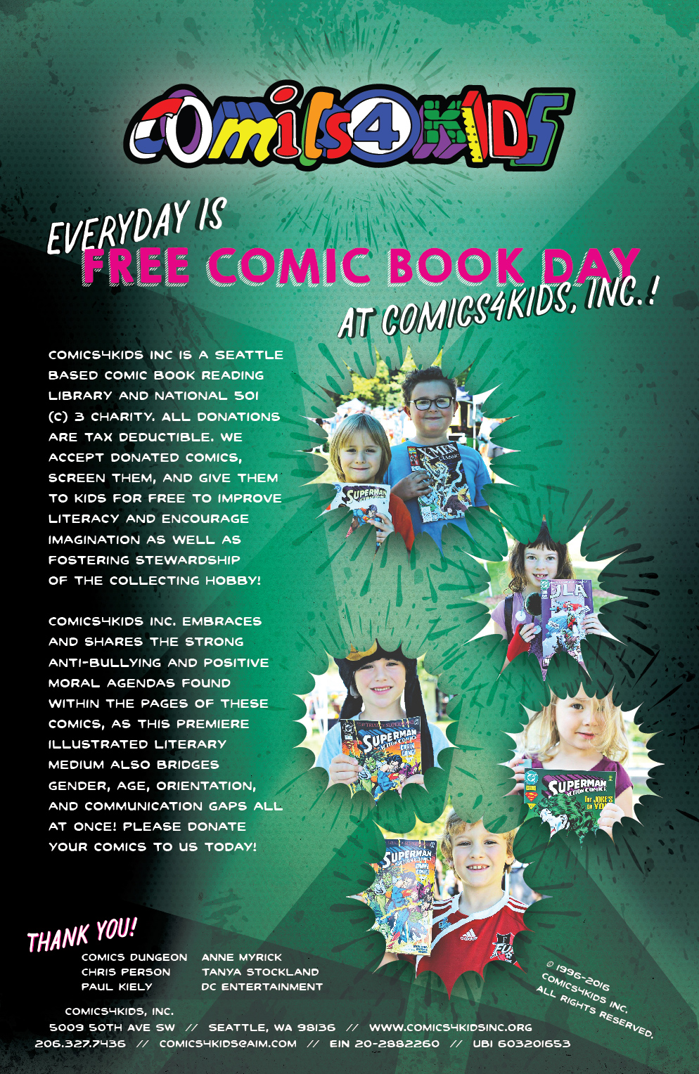 DONATE YOUR COMICS TODAY!