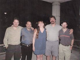 President Dale Moore, Steve, Audrey, John, and Mark. Taken when Moore hired at CGC a long time ago in a land far away...