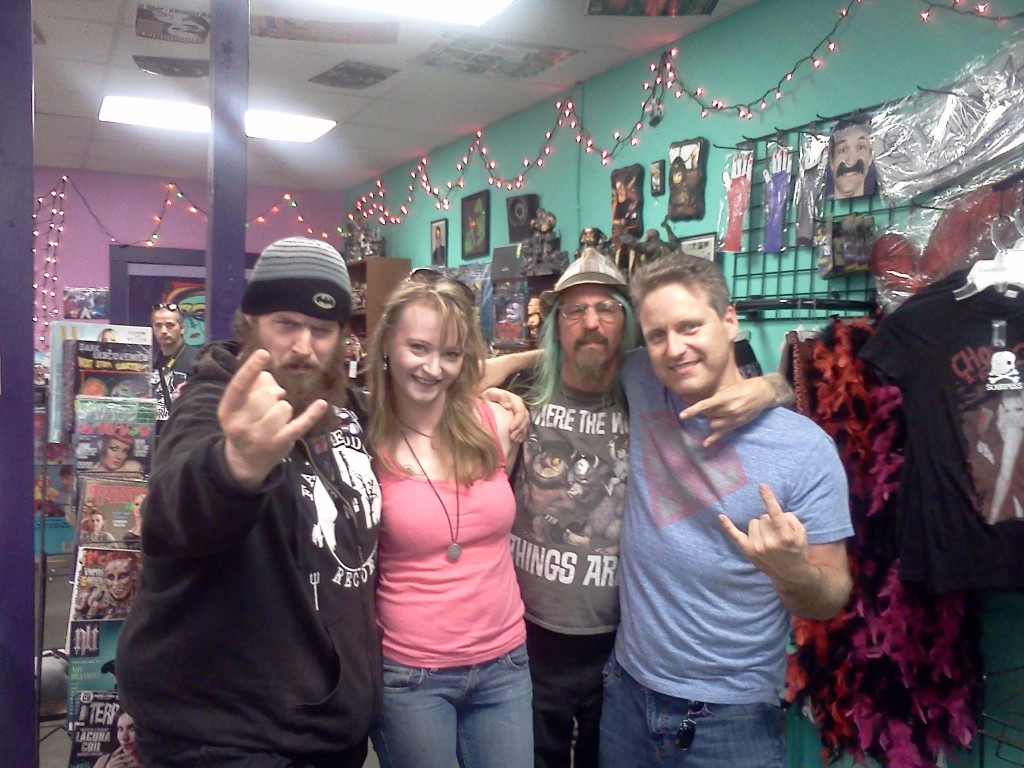 Jason, Tanya, Blue Dave, and Dale at Poison Apple (Tacoma WA)
