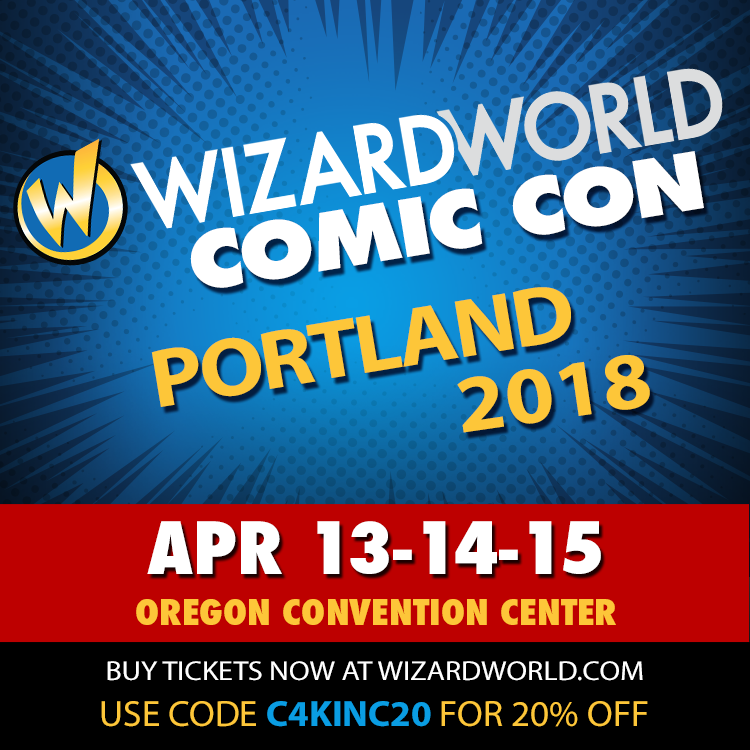 """Wizard World is coming to Portland April 13-15 -- guests this year include """"The Winter Soldier"""" Sebastian Stan, Jason Momoa """"Aquaman"""", Ray Fisher """"Cyborg"""" & Ezra Miller """"The Flash"""" in the """"Justice League"""" movie, """"Lord of the Rings"""" actors Billy Boyd and Sean Astin, fan favorites like James Marsters, Charisma Carpenter, Henry Winkler, """"Star Trek"""" actress Nichelle Nichols, and many more -- use code C4KINC20 at checkout for 20% off your tickets!"""